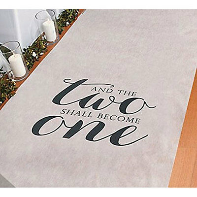 Two Become One Wedding Aisle Runners White 100' Long Aisle Runner