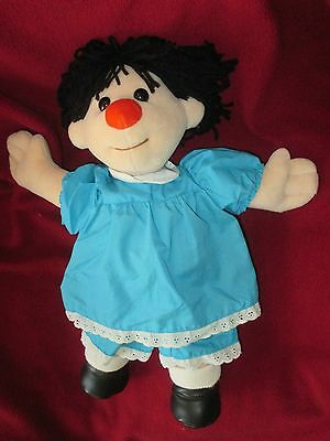 "Big Comfy Couch Molly Doll 16"" Vintage 1995 Plush Doll In Blue Dress Toy"