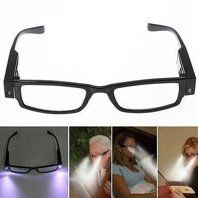Con montura Lectura Eye Gafas Spectacal con LED Luz Para Ancianos Regalo