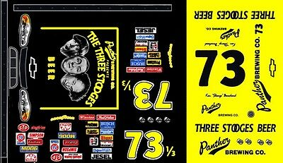 "#73 Ken ""Shemp"" Bouchard 1999 Chevy 3 Stooges Beer 1/24th - 1/25th Scale Decals"