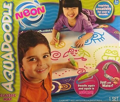 NEW AquaDoodle Drawing Mat with Neon Color Reveal FREE SHIPPING!
