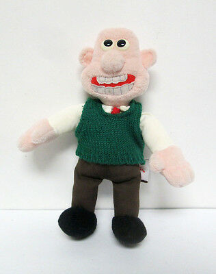 """Vtg Wallace and Gromit 8"""" Plush Doll Gund 1989 Rare"""