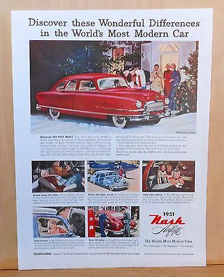 1950 magazine ad for Nash - Colorful 1951 Nash, Discover Wonderful Differences