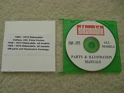 1949-75 Oldsmobile All Models Gm Parts / Illus - Catalogs On Cd