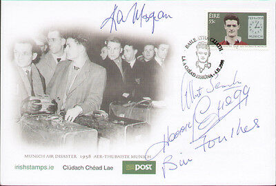 1958 Munich Air Disaster First Day Cover Signed By Four