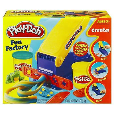 NEW Play-Doh Fun Factory Squeeze & Mold Modeling Shapes Toy Safe Hasbro CHOP