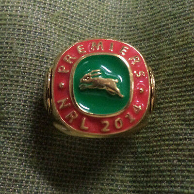 #d282.  2014  Nrl  South Sydney  Rabbitohs  Premiers  Gold Plated Ring