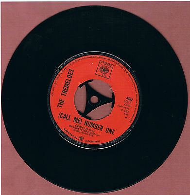 Tremeloes, The - (Call Me) Number One 45rpm Jukebox Friendly Vinyl Single