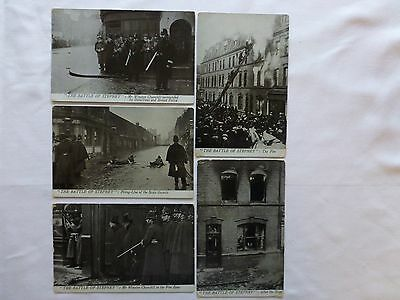 Siege Of Sidney Street Battle Of Stepney Postcards