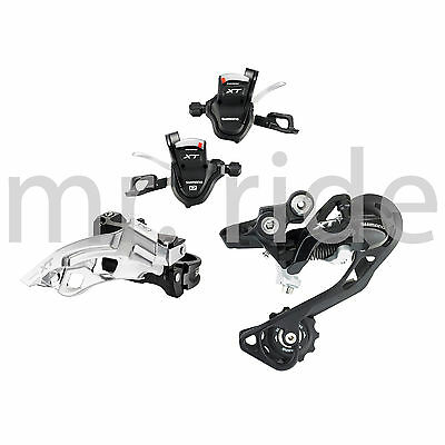 mr-ride Shimano XT 3x10 Speed 3pc Derailleur Group Set F/R Shifter, Top Black