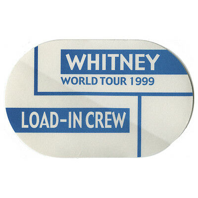Whitney Houston authentic Load In 1999 tour Backstage Pass