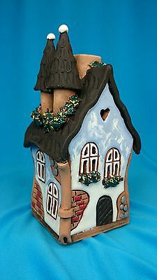 Ceramic Candle House-Tea Light Candle Holder Essential Oil Burner Home Decor