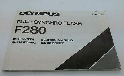 Olympus FULL SYNCHRO FLASH F280 Instructions 60P.