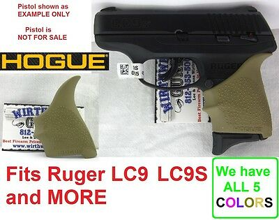 FDE Tan Earth Hogue 18403 Rubber HandAll Beavertail Grip Sleeve Ruger LC9 LC9s