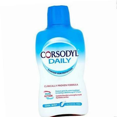 Corsodyl, 500ml Daily Cool Mint Alcohol Free Mouthwash