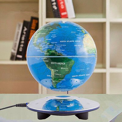 Decorative Big Rotating Earth Globe World Geography Gold Magnetic Floating Globe
