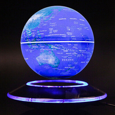 ILLUMINATING WORLD GLOBE TOUCH CONTROL LIGHT UP LED LAMP MAGNETIC fLOATING GLOBE