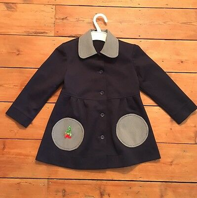 Awesome Girls Vtg 60s/70s Navy Blue Jacket 5 Years Mod Retro Collar