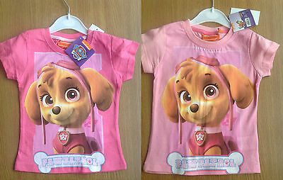 Paw Patrol Girls T Shirt Top 2 - 8 YEARS Brand New Official Licensed