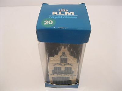 New In Box KLM Bols Canal Blue Delft House Miniature House #20