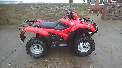 Honda fourman TRX 500 FM quad bike ATV 4x4 2012 NO VAT!!!!