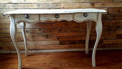 Wooden console table with 3 drawers French Style shabby chic vintage Annie Sloan