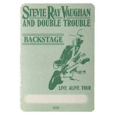 Stevie Ray Vaughan authentic Backstage 1986-1989 tour Backstage Pass