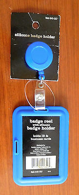 Badge Reel with Silicone ID Badge Holder