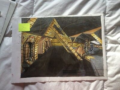 Stargate SG-1 Production art colour interior Gouald cargo ship