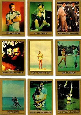 """james Bond 007"" Series 1 Complete 110 Movie Card Set Sean Connery(Eclipse 1993)"