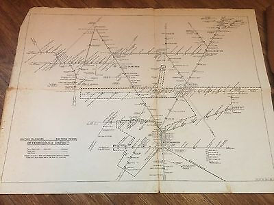 British Railways Eastern Region Peterborough District Track Plan
