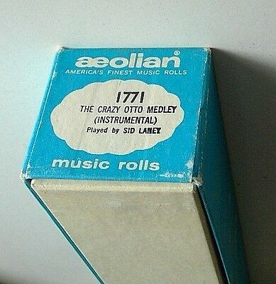 Aeolian piano player roll #1771 'The Crazy Otto Medley (Instrumental)' Sid Laney