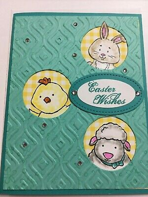 Stampin Up Easter card handmade - funky fold bunny