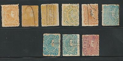 Venezuela: 1880; Scott 58 to 65, some good cancellations, +61A. VE615