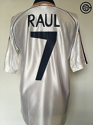 RAUL #7 Real Madrid Adidas Football Shirt Jersey 1999/00 (M)