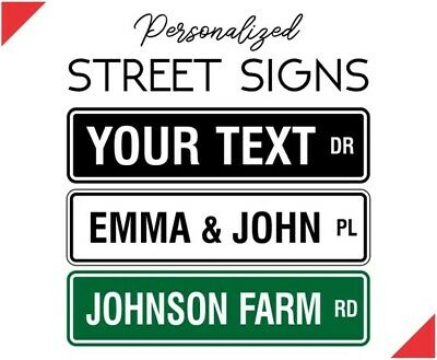 "PERSONALIZED CUSTOM STREET SIGN, 6""X24"" MAKE YOUR OWN SIGN Aluminum USA Made A+"