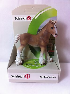 Schleich Clydesdale Foal 13671 farm collectible figure NIP