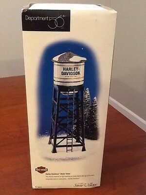 Snow Village Department 56 Harley Davidson Water Tower