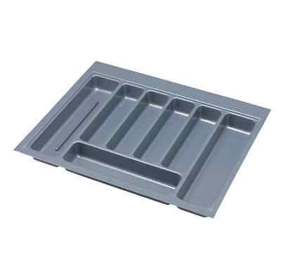 B&Q 7 Compartment Kitchen Drawer Cutlery Insert Tray Grey Plastic 600mm Base