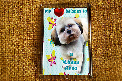 Lhasa Apso Gift Dog Fridge Magnet 77 x 51 mm Free UK Post  Xmas stocking filler