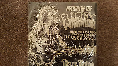 "Marc Bolan 'return Of The Electric Warrior' Uk Picture Sleeve 7"" Single"