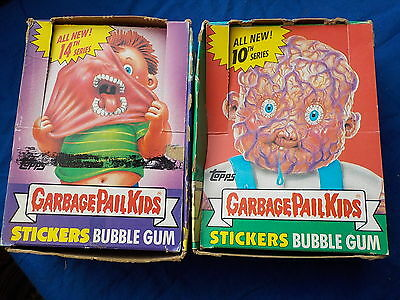 Lot of 2 Empty Wax boxes Garbage Pail Kids series 10 & 14 no cards BY TOPPS '