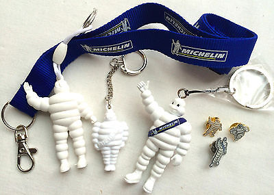Genuine Michelin Collector's Lot - keyrings, badges