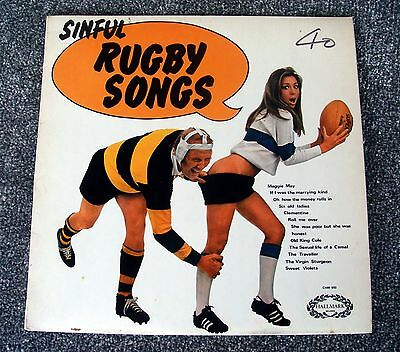 """The Shower Room Squad """" Sinful Rugby Songs """" 1970 Hallmark Stereo Label Album"""