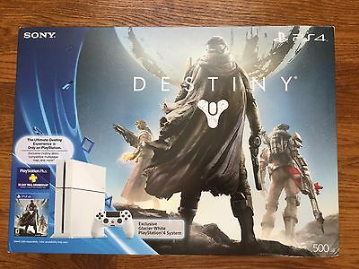 NEW Sony PlayStation 4 500GB Glacier White Console PS4 Destiny Edition System