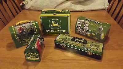 Five Collectible John Deere Tins, Lunchboxes