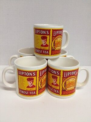 Lipton Nostalgic Mug Collection Series #101 Five Mugs