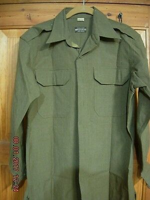 Wwii Us Army Officers  Od Wool  Field Shirt
