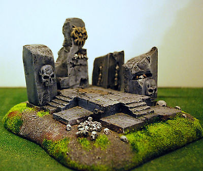 """WARHAMMER age of sigmar WAR GAME SCENERY """"  ARCANE CHAOS TEMPLE """" PRO PAINTED"""