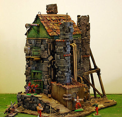 """WARHAMMER age of sigmar WAR GAME SCENERY """"  Abandoned Factory  """" PRO PAINTED"""